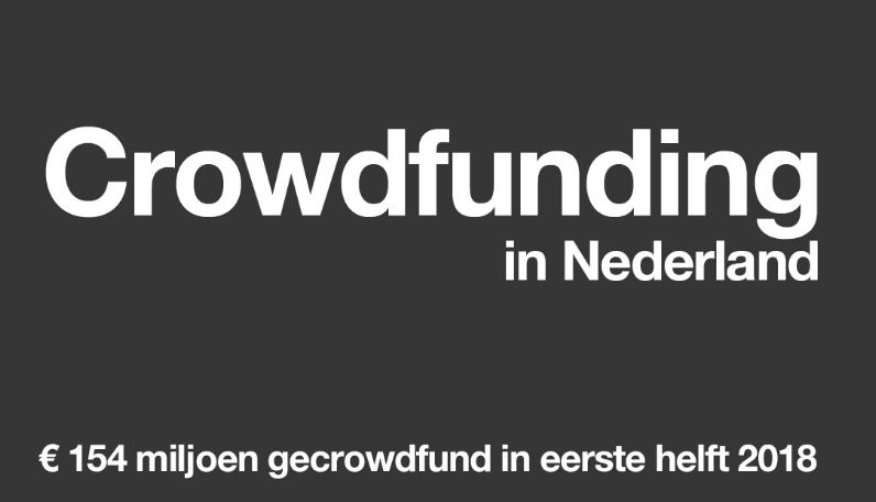 Crowdfunding in Nederland eerste helft 2018
