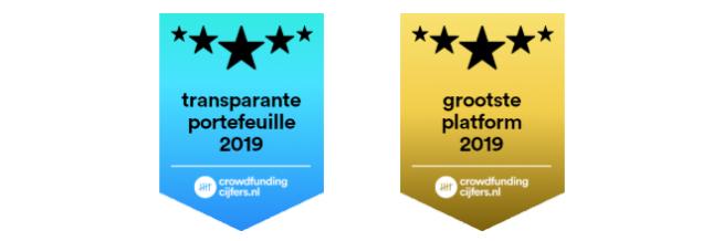 Award voor grootste platform en transparantie