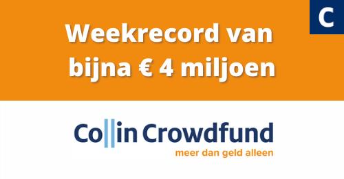 Collins nieuwe weekrecord van bijna € 4 miljoen aan gerealiseerde bedrijfsfinancieringen